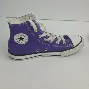 Converse All Star Shoes Youth Size 3 Purple Hi Top